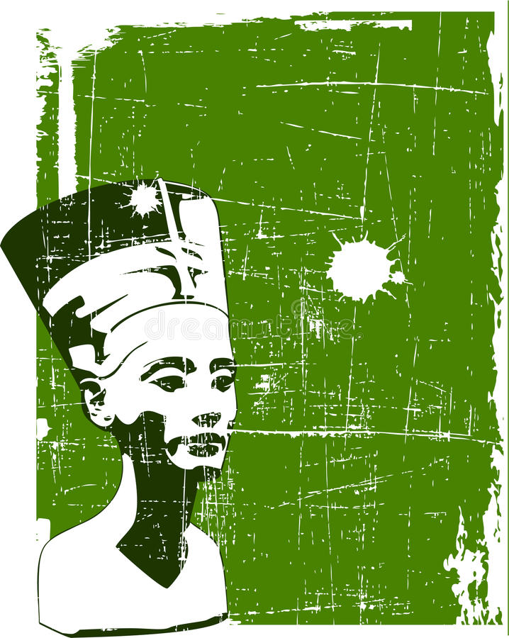 Nefertiti vektor illustrationer