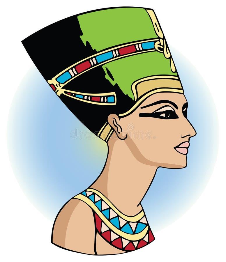 Nefertiti illustration de vecteur