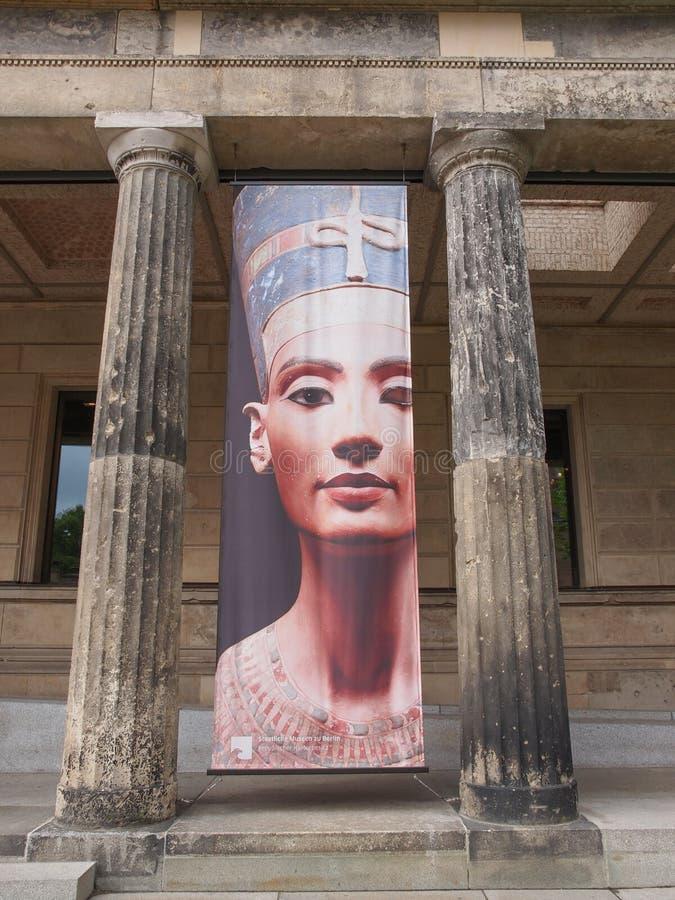 Nefertiti en el museo Berlín de Neues fotografía de archivo libre de regalías