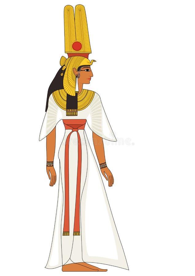 Nefertiti, figura do deus de Egito antigo ilustração royalty free