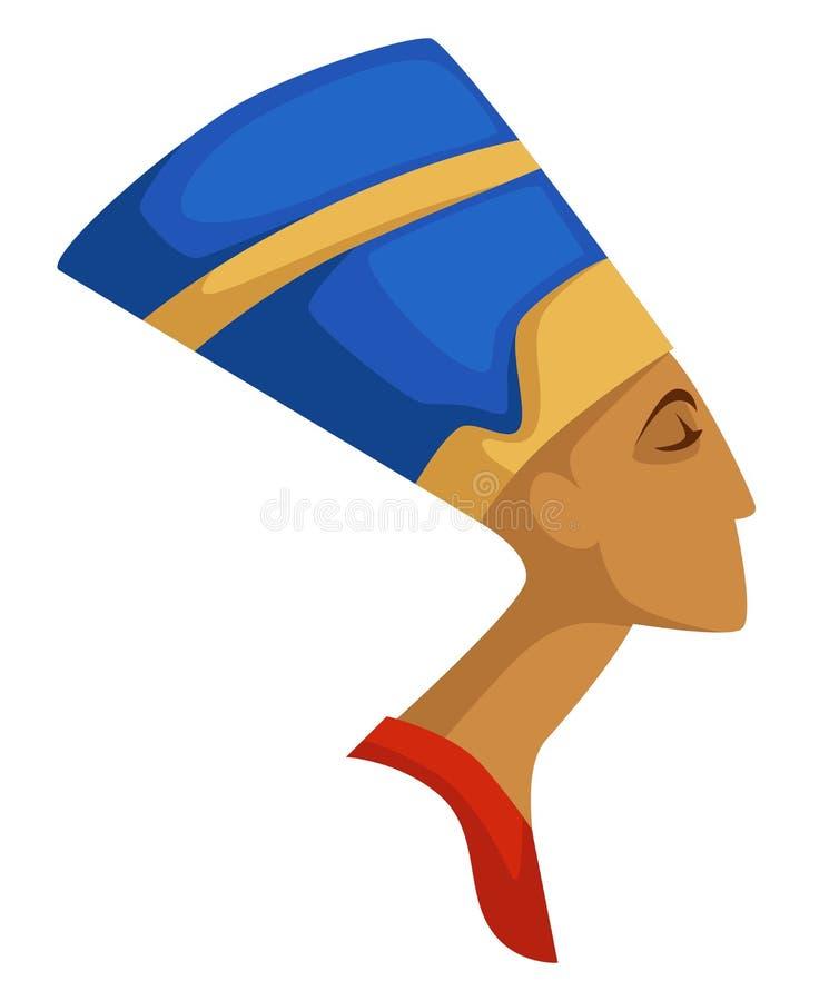 Nefertiti ha isolato la civilizzazione antica della regina egiziana di profilo royalty illustrazione gratis