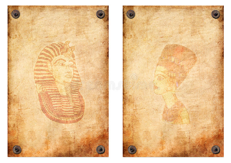 nefertiti papirusowa pharaoh królowa royalty ilustracja