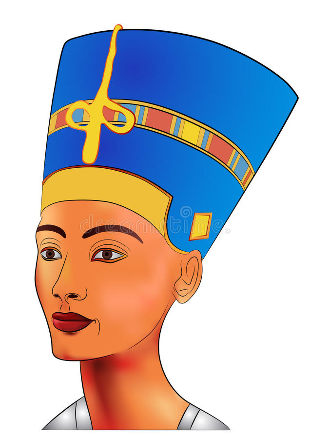 Nefertiti - vector. Image of the queen of ancient Egypt - vector royalty free illustration