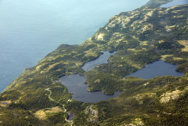 Вид с воздуха Nefoundland стоковое изображение rf