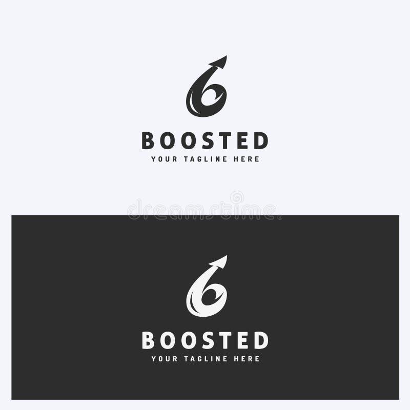 Negócio abstrato Logo Icon Design Template com seta Estilo simples e limpo Cores preto e branco ilustração stock