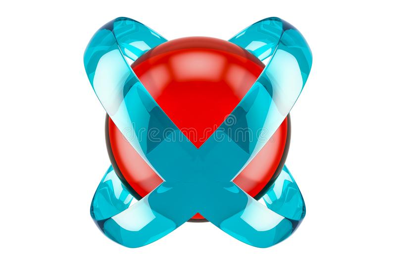Negócio abstrato logotype colorido, rendição 3D ilustração do vetor
