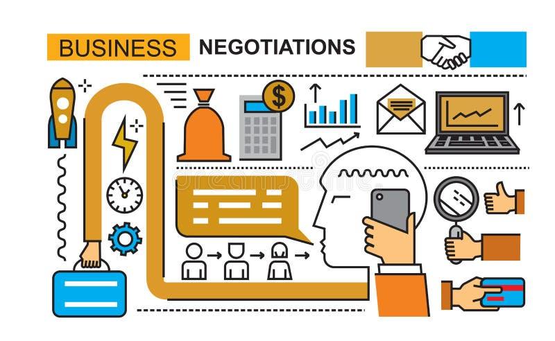 Negócio abstrato no branco ilustração do vetor