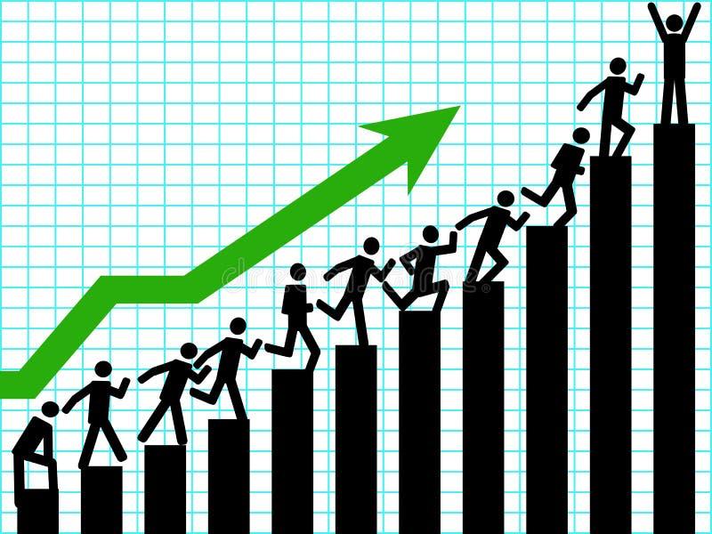 Negócio acima ilustração stock