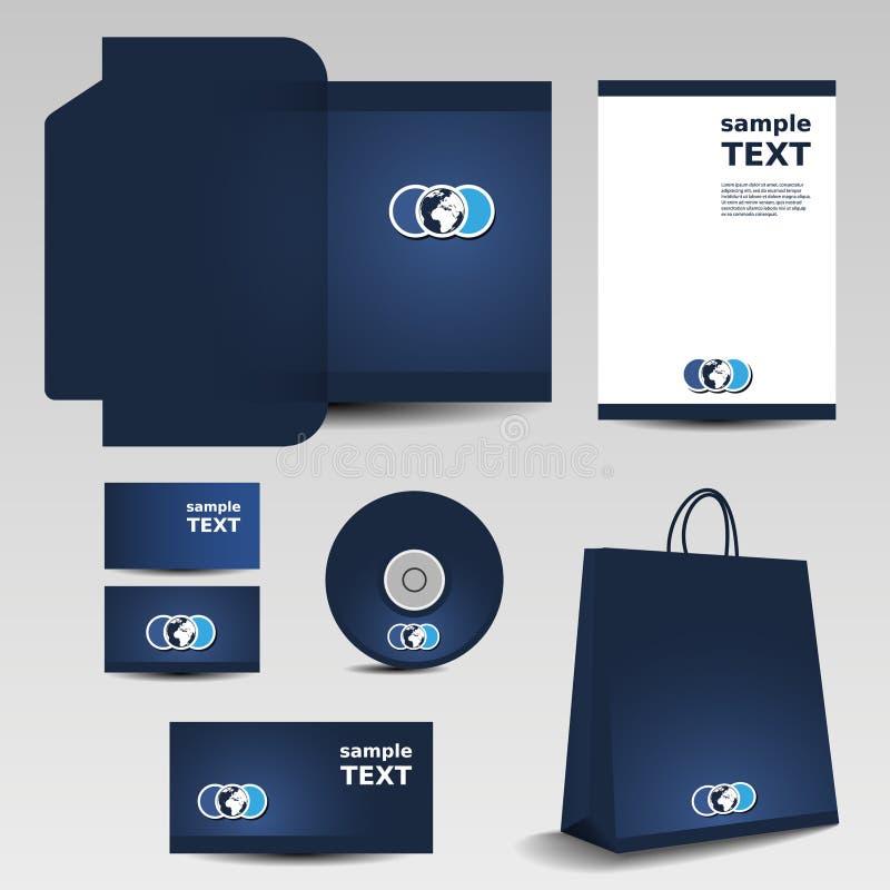 Negócio ajustado - projeto do molde dos artigos de papelaria ilustração royalty free