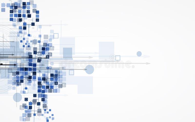 Negócio alto da informática do Internet futurista da ciência ilustração stock