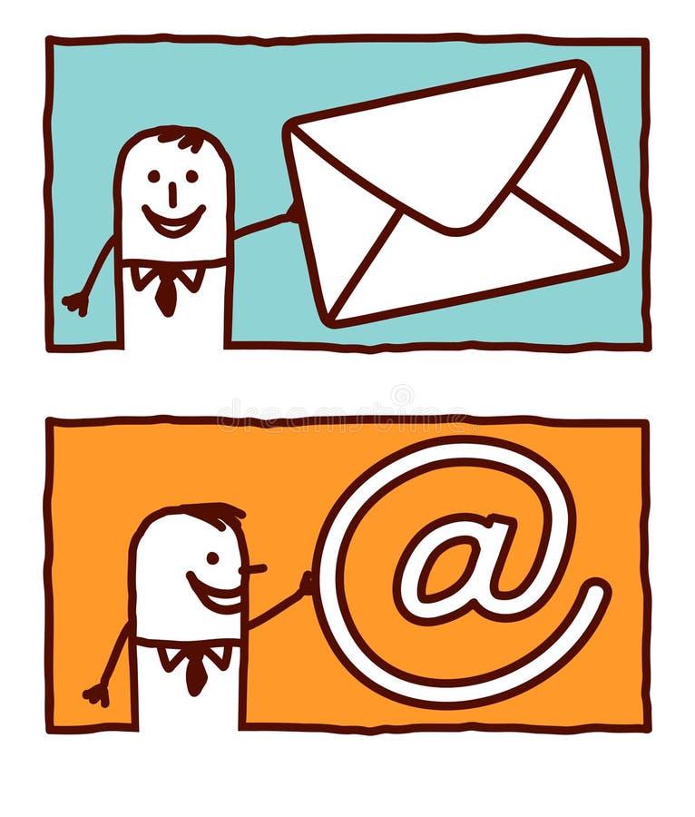 Negócio & correio ilustração do vetor
