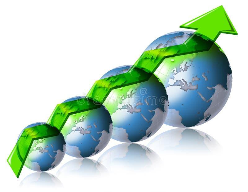 Negócio & mundo financeiro ilustração stock