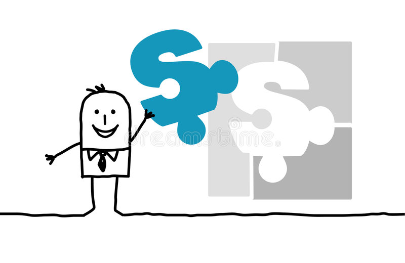 Negócio & soluções ilustração royalty free