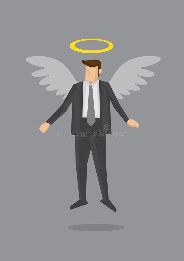 Negócio Angel Metaphor Vetora Illustration ilustração stock