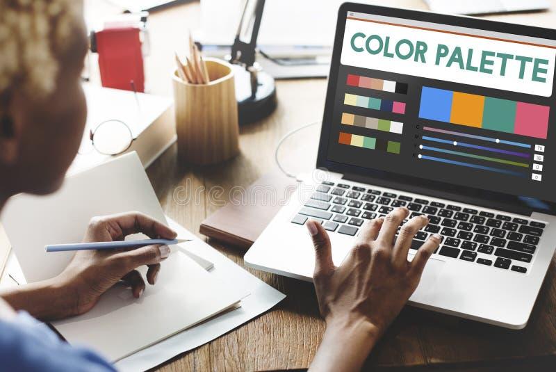 Negócio Art Designing Concept da tecnologia fotografia de stock royalty free