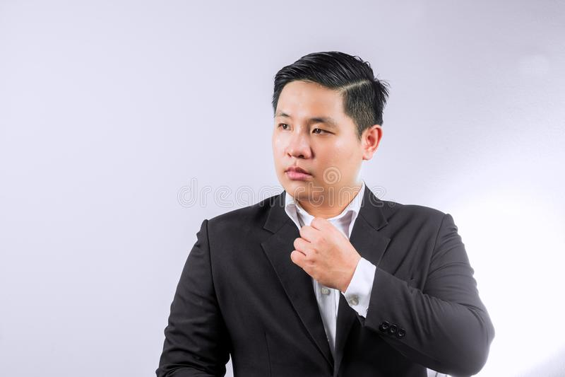 Negócio asiático homem vestido imagens de stock royalty free
