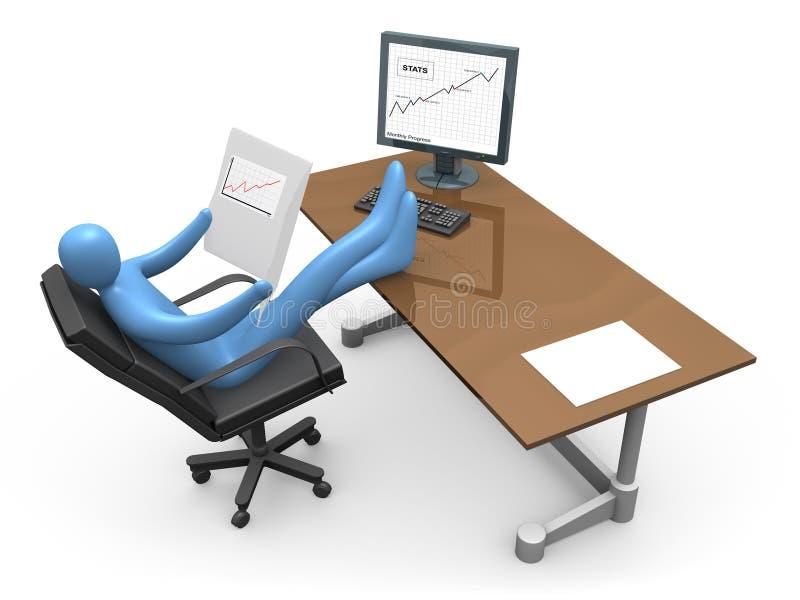 Negócio bem sucedido ilustração stock