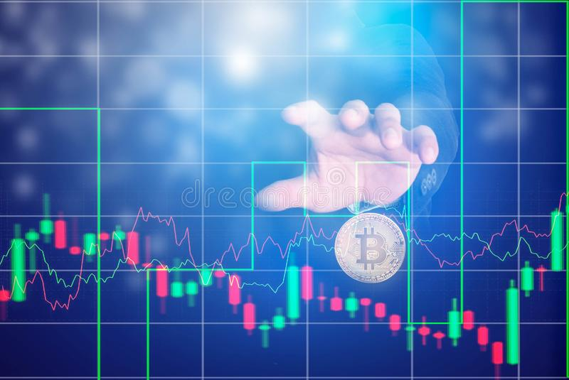 Negócio, Bitcoin, troca de Bitcoin fotos de stock royalty free