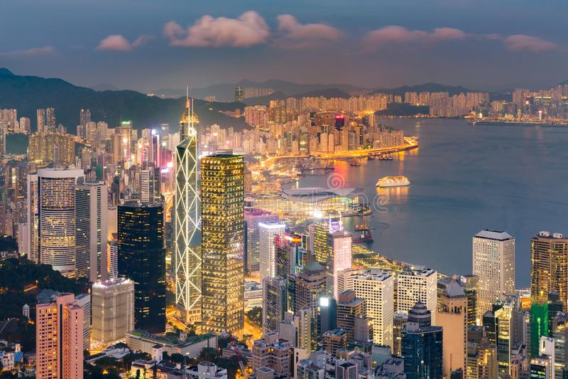Negócio central de Hong Kong do centro fotografia de stock royalty free