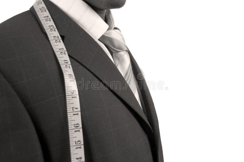 Negócio com medida imagens de stock