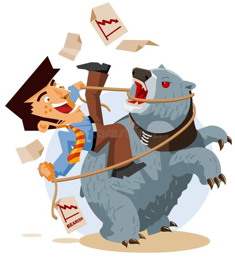 Negócio com mercado Bearish ilustração do vetor