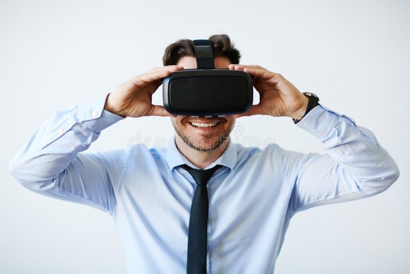 Negócio com realidade virtual foto de stock royalty free