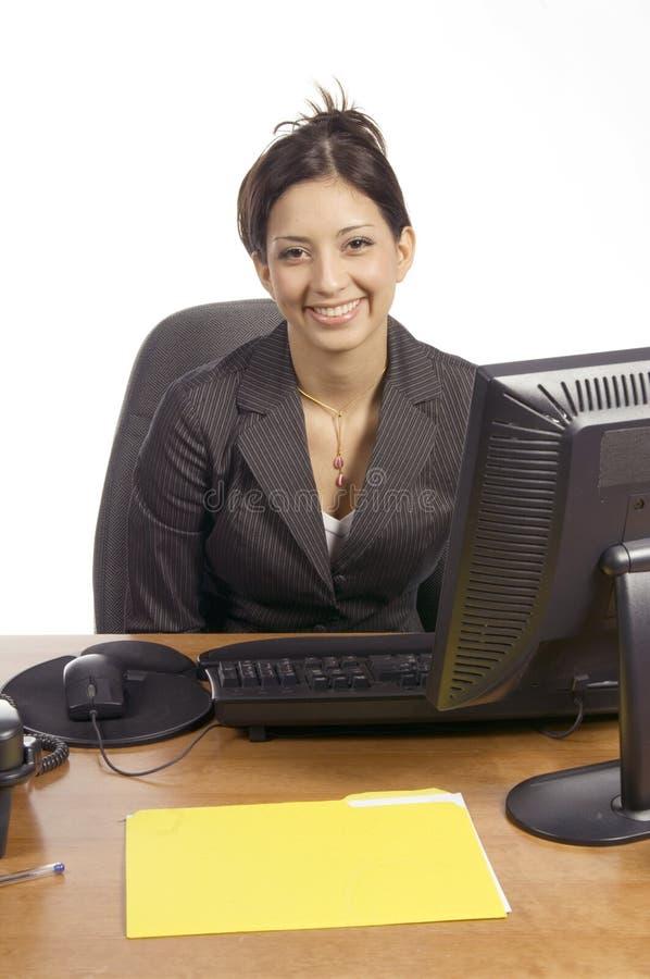 Negócio com um sorriso fotografia de stock royalty free