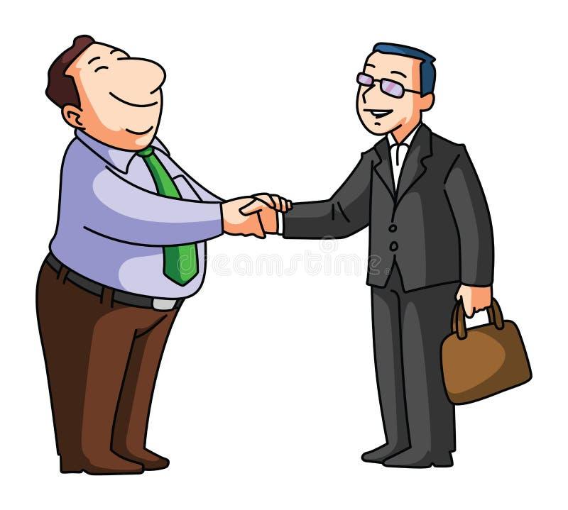 Negócio da agitação da mão ilustração do vetor