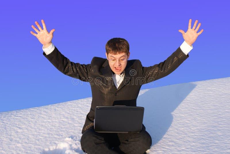 Negócio da neve foto de stock royalty free