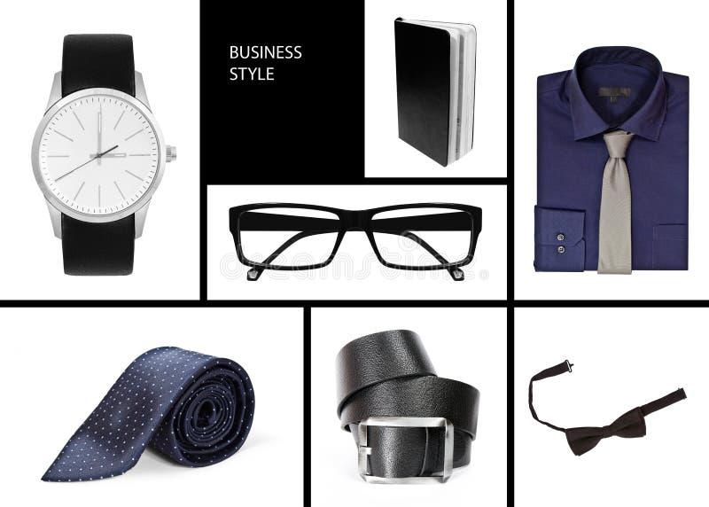 Negócio da roupa do estilo da colagem imagens de stock royalty free