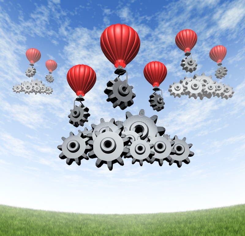 Negócio da tecnologia sem fios ilustração stock