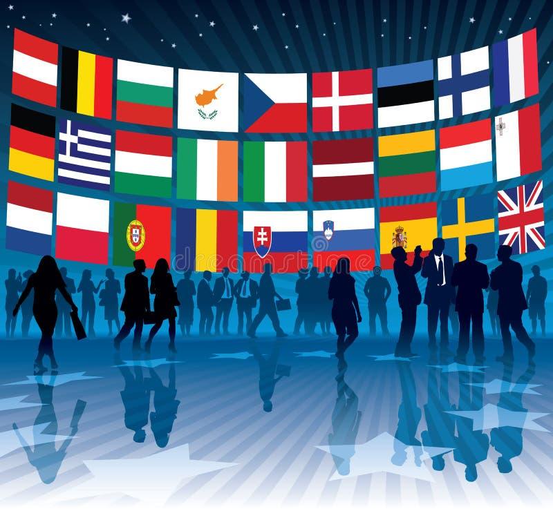 Negócio da UE ilustração do vetor