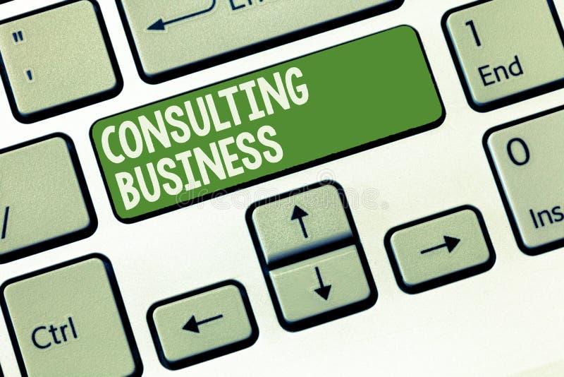 Negócio de consulta do texto da escrita da palavra O conceito do negócio para peritos da empresa de consulta dá o conselho profis fotos de stock