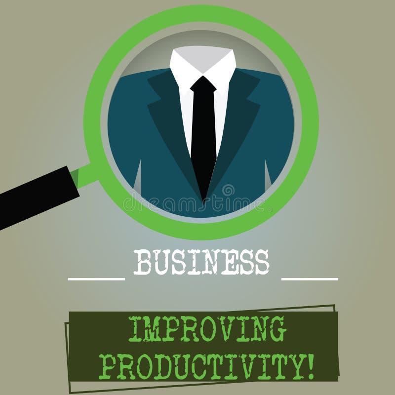 Negócio de exibição conceptual da escrita da mão que melhora a produtividade Aumento do texto da foto do negócio da eficiência na ilustração stock