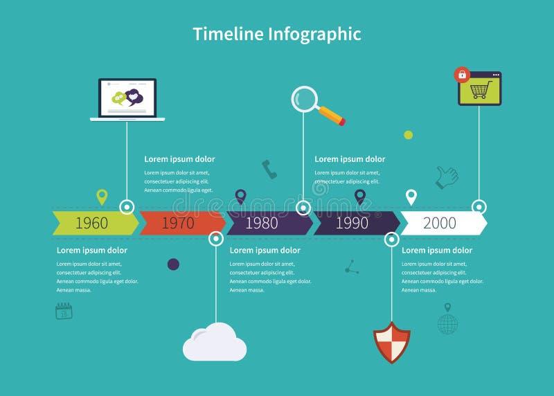 Negócio de Infographic do espaço temporal fotos de stock