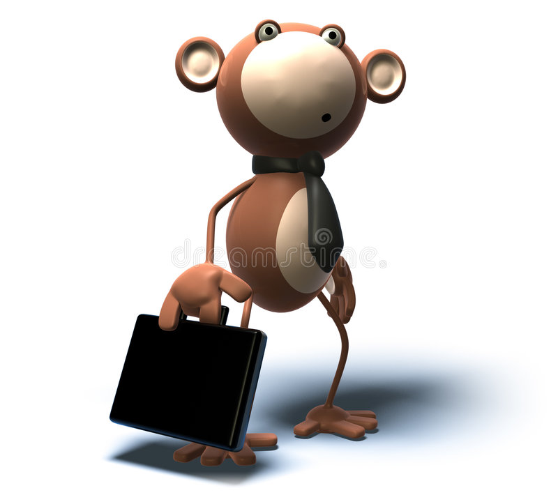 Negócio de macaco ilustração royalty free