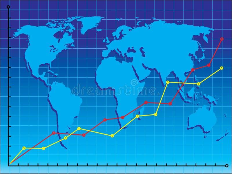 Negócio de mundo ilustração do vetor