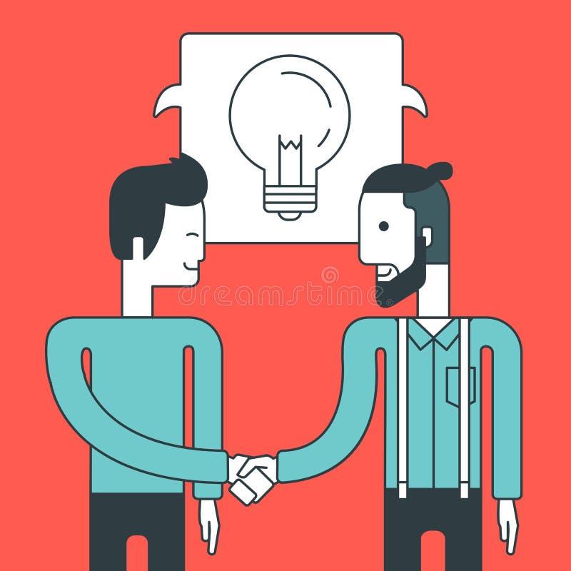 Negócio de negócio bem sucedido ilustração stock