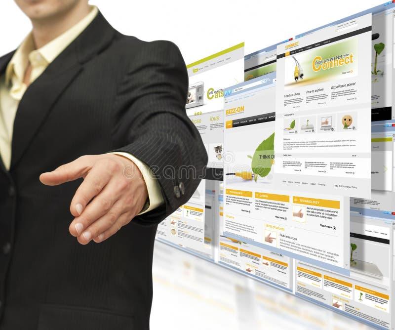 Negócio de negócio em linha foto de stock