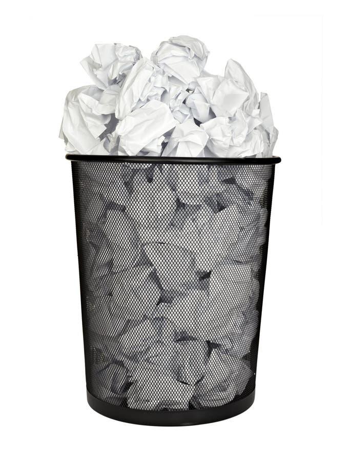 Negócio de papel do escritório do escaninho do papel waste da esfera imagens de stock