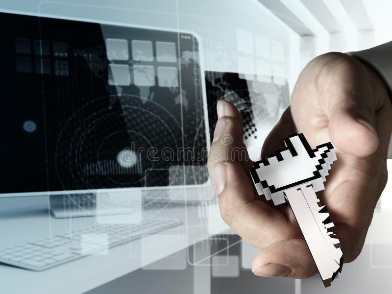 Download Negócio de trabalho da mão ilustração stock. Ilustração de negócio - 26522262
