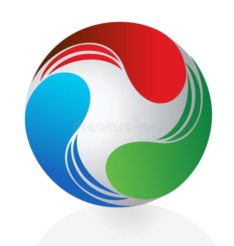 Negócio dinâmico abstrato do logotipo ilustração do vetor