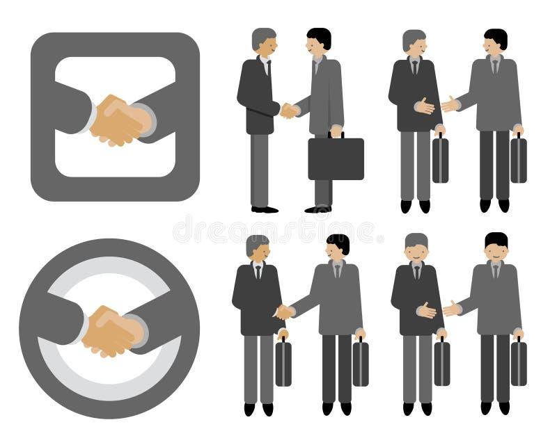 Negócio do aperto de mão ilustração do vetor