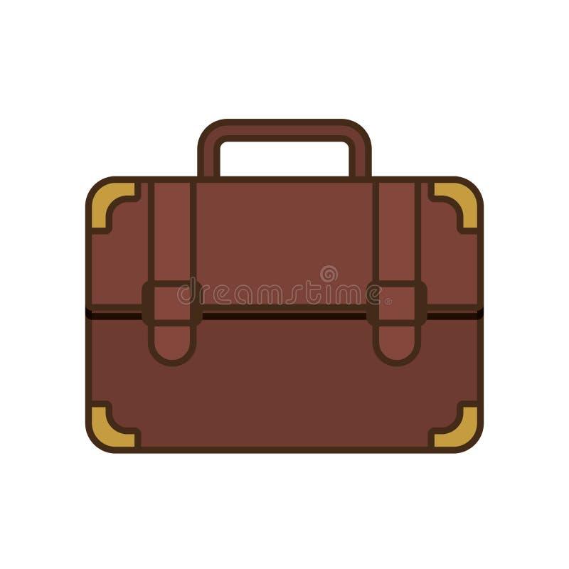 negócio do curso da mala de viagem do portfólio dos desenhos animados ilustração do vetor