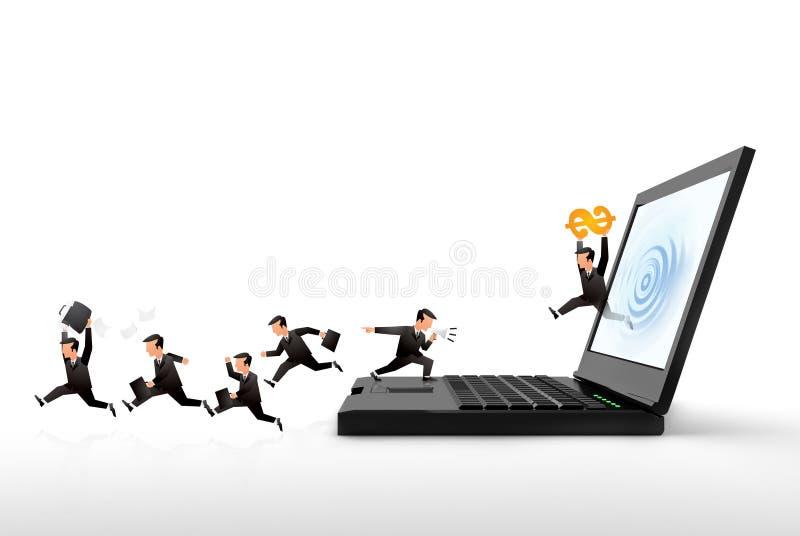 Negócio do Internet ilustração stock