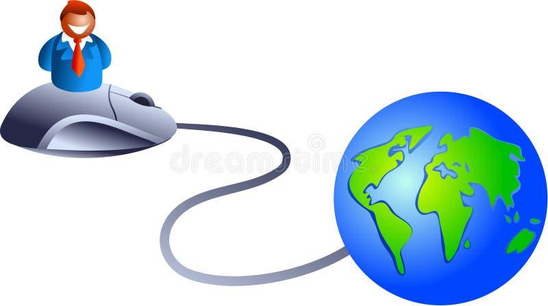 Negócio do Internet ilustração do vetor
