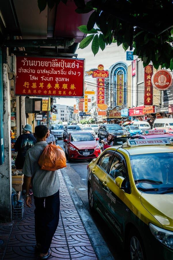 Negócio do táxi de Tailândia na cidade de China fotografia de stock royalty free