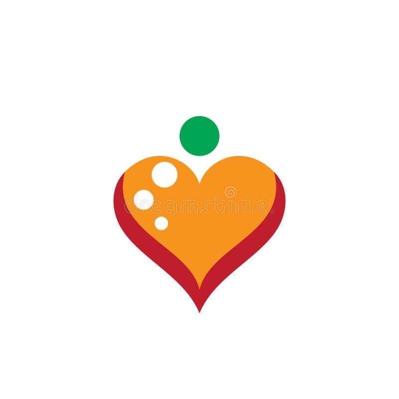 Negócio do vetor do logotipo do amor ilustração royalty free