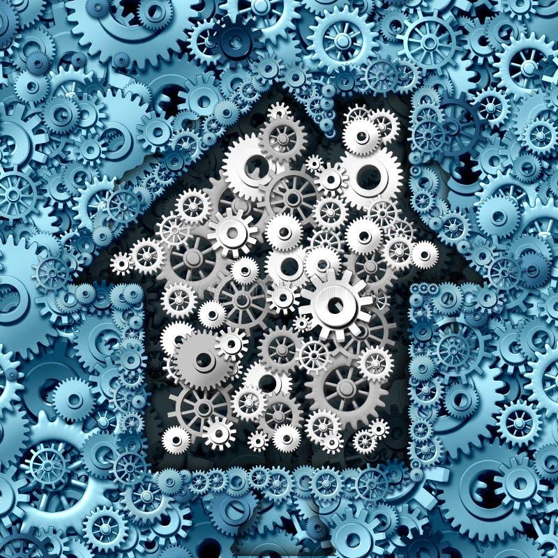 Negócio dos bens imobiliários ilustração stock