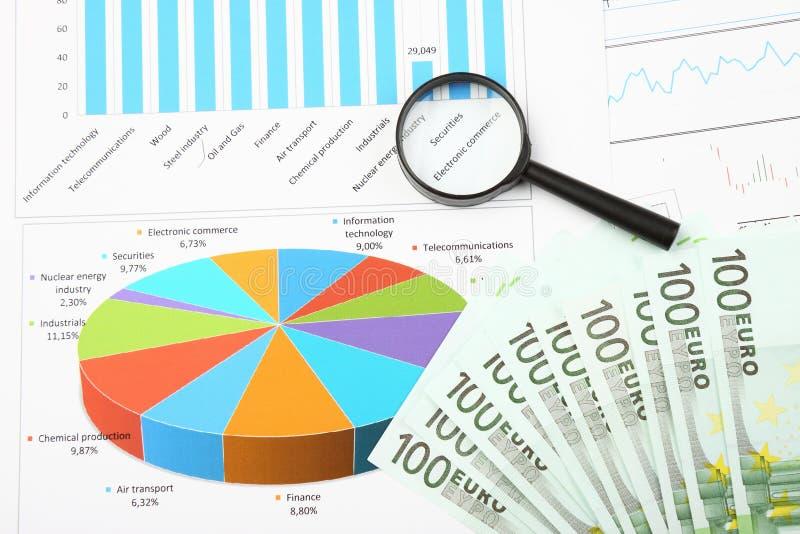 Negócio e ainda vida financeira imagem de stock